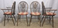 Set of Four Windsor Wheelback Dining Chairs